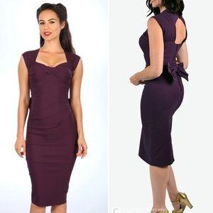 Stop Staring! Love Dress Purple Eggplant Pinup